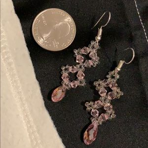NWT crystal tear drops beaded earrings